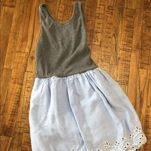 Gap kids blue and grey dress. Size M